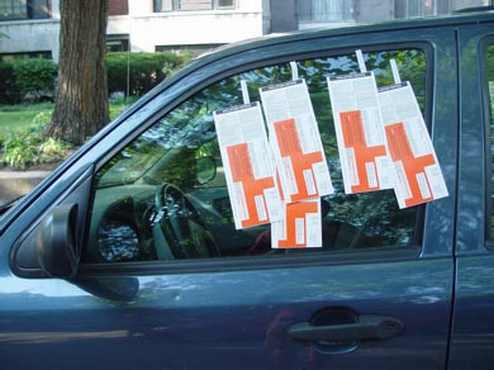 Parking Ticket Blew Off My Car